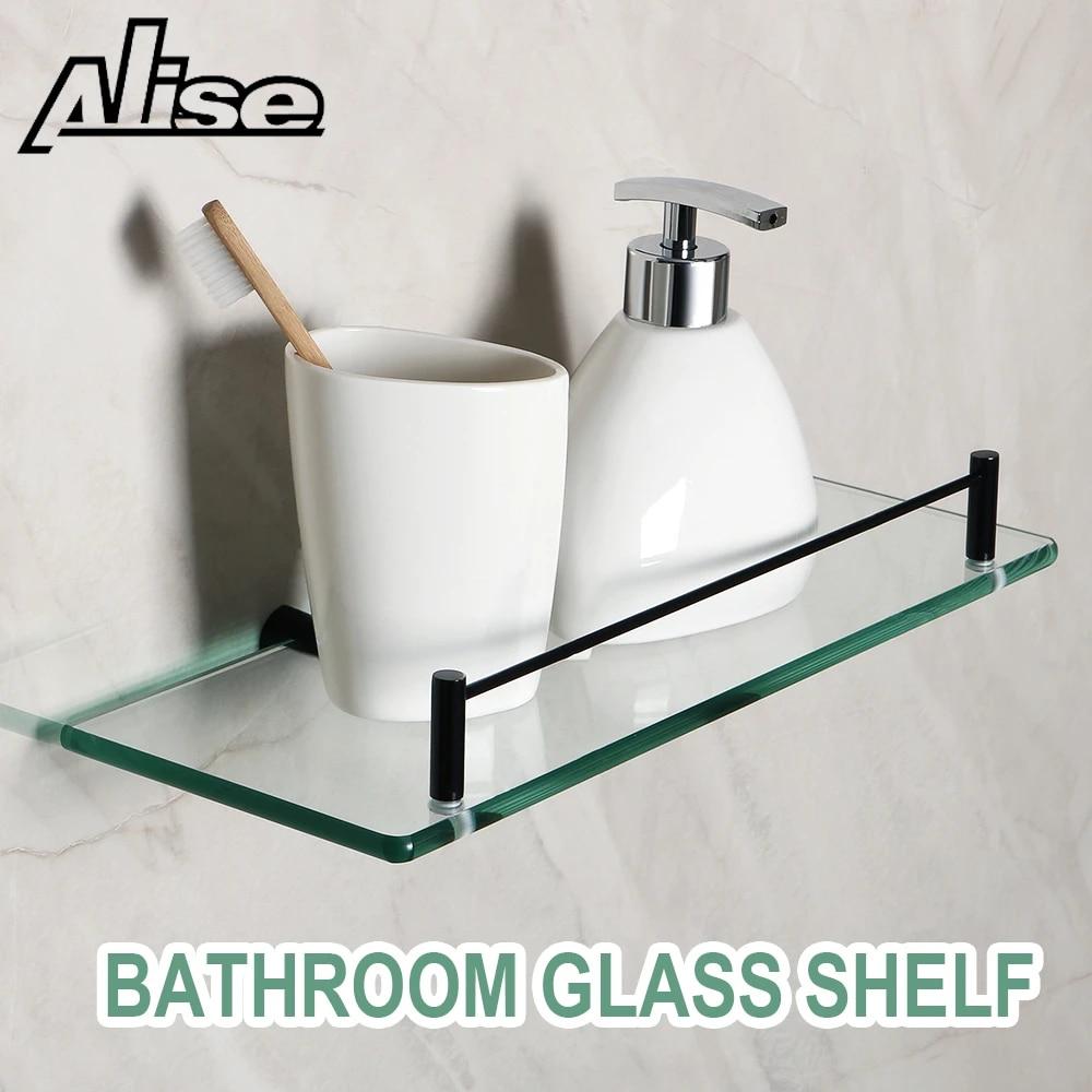 20mm Badezimmer Glas Regal Bad Dusche Glas Halter Edelstahl Lagerung Rack  Wand Halterung Regal Bad Regale Zubehör
