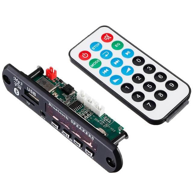 CLAITE 15Wx2 bluetooth 5.0 MP3 Audio décodeur carte amplificateur de puissance accessoires sans perte pour tige de traction amplificateur Audio