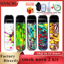 Original Pod Vape SMOK novo 2 pod kit 2ml & 800mAh battery Electronic cigarette Vape Pod upgraded version vs smok novo/smok nord original smok novo 2 pod vape kit smok novo kit cobra covered vape pen kit 450mah battery 2ml capacity pod system kit to vape
