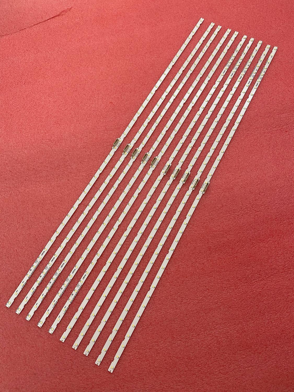 10pcs lot LED Backlight strip for Samusng 55NU7100 UE55NU7300 UE55NU7100 UE55NU7105 AOT 55 NU7300 NU7100 BN96-45913A BN61-15485A