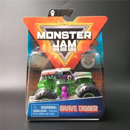 1: 64 оригинальные горячие колеса гигантские колеса Crazy Barbarism Монстр металлическая модель грузовика игрушки Hotwheels большая ножная машина детский подарок на день рождения - Цвет: Monster Jam