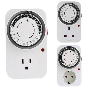 24 Hour Cyclic Timer Switch Light Timer Outlet Loop Universal Timing Socket Mechanical Timer 120V/230VAC 16A 3500W UK EU US Plug cyclic pure submodules