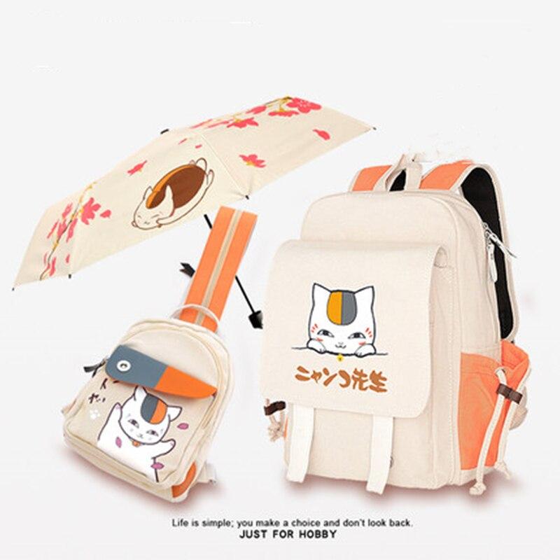 Cute Cartoon Japan Natsume Yuujinchou Nyanko Sensei Cat Bag  Shoulder Bag Students