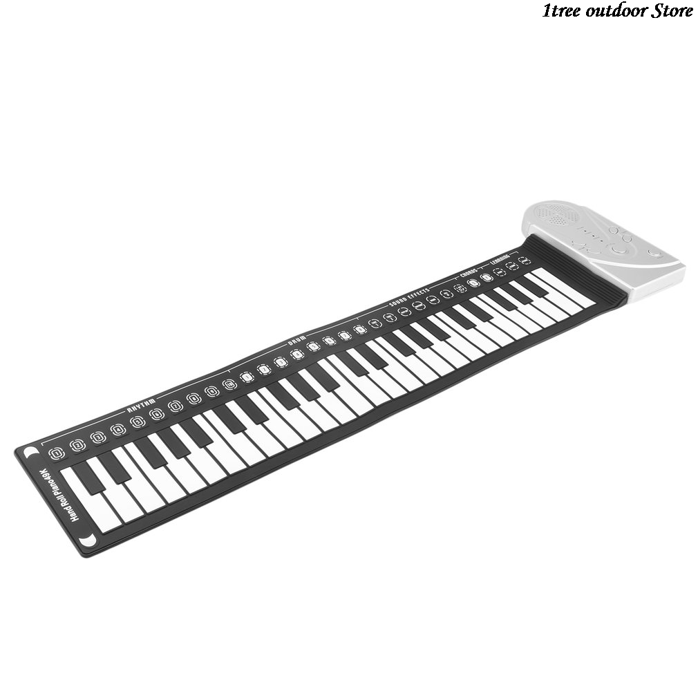 49 Keys Digital Keyboard Piano Hand Roll Up Electronic Piano Pad With Speakers Flexible Silicone Gift For Kids Student