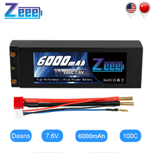 Zeee Lipo батарея 7,6 V 6000mAh 100C RC Lipo батарея с 4 мм Bullet Deans Вилка лодка зарядное устройство для RC автомобиль грузовик Truggy