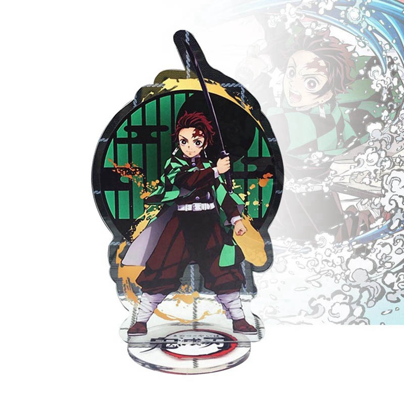 Demon Slayer Kimetsu No Yaiba Tanjirou Nezuko Giyuu Zenitsu Acrylic Stand Figure Desk Decor Collection Model Toy Doll Gift