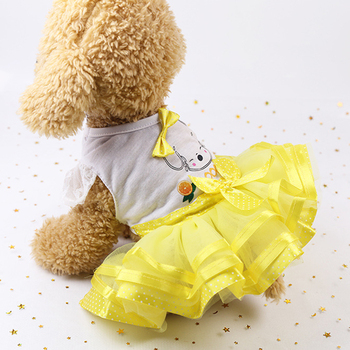 Summer Dog Dress cute Dog outfit red dress girl dog Wedding Dress Pet cloth cute Pet Dog Clothes for Small Dog Skirt Pet Clothes image