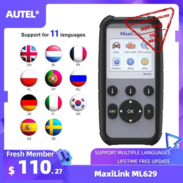 Autel ML629 Maxi Link Diagnose Werkzeug Auto OBD2 Scanner Code Reader ABS Airbag Code Reader Upgrade Autel ML619 AL619