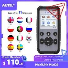 Autel ML629 Maxi di Collegamento Strumento di Diagnostica Auto OBD2 Scanner Lettore di Codice ABS Airbag Lettore di Codice di Aggiornamento Autel ML619 AL619