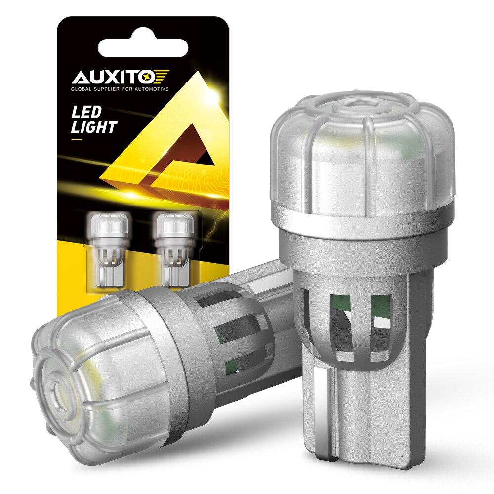 2 шт. AUXITO Новый T10 светодиодный W5W светодиодный светильник 5630 SMD 168 194 2825 лампа для салона автомобиля освещение купол багажник лампа для чтения ...