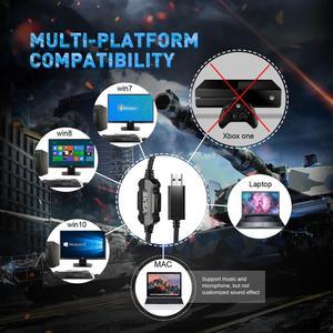 Image 3 - EKSA E1000 7.1 וירטואלי משחקי Surround אוזניות RGB אור צליל סטריאו גיימר אוזניות עם סופר בס מיקרופון עבור מחשב PS4