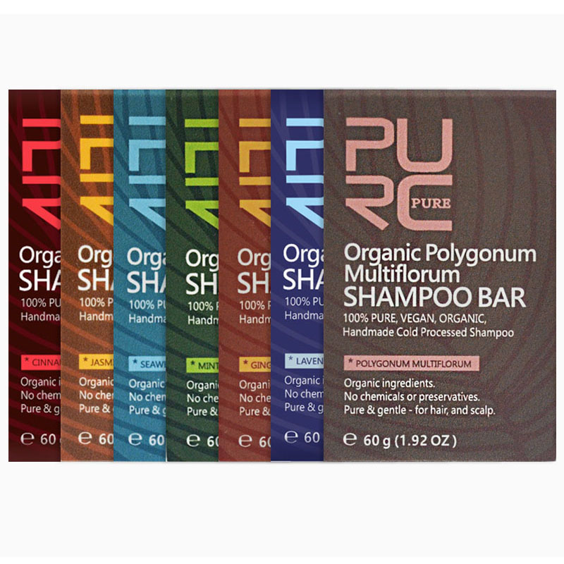 Органическое мыло для волос ручной работы с лавандой PURC, 100% чистый растительный и веганский кондиционер для холодной обработки волос, уход ...
