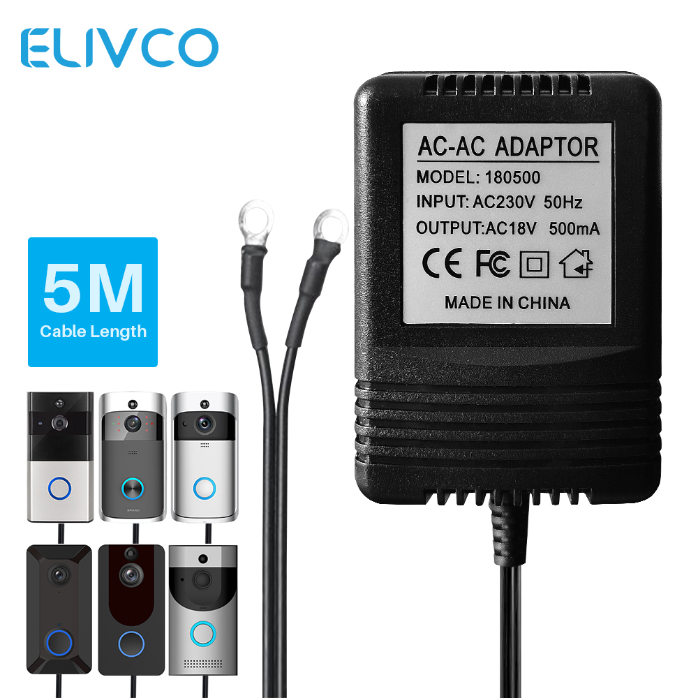 18V AC Power Adapter Transformer Charger EU UK US 220V-240V For Wifi Smart Video Doorbell Camera Video Intercom Door Bell Ring