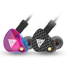 Qkz vk4 이어폰 3.5mm 유선 이어 버드 스포츠 하이파이 저음 소음 제거 이어폰 분리형 케이블 이어폰