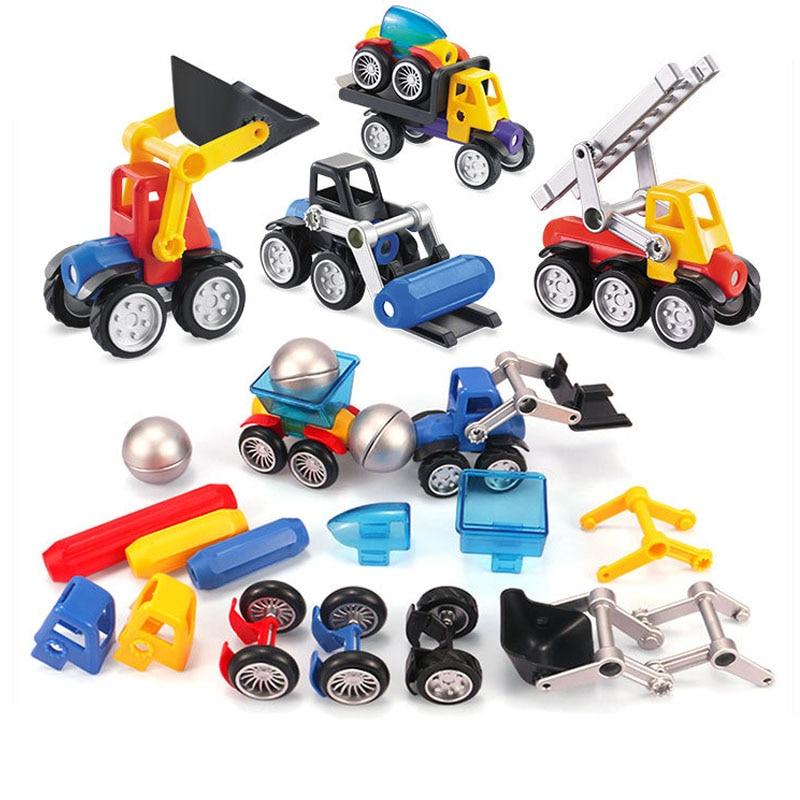 100pcs Magnetic Building Blocks Kits Construction Children Toys Puzzles Block US