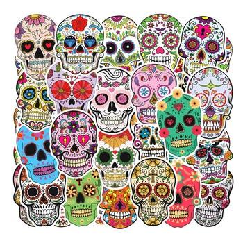 50pcs Symphony of horror skulls Brand Logo Waterproof Sticker For Luggage Car Guaitar Skateboard Phone Laptop Bicycle Stickers