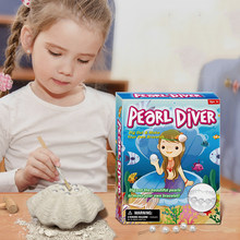Submarine Pearl Fossil excavation kits Education archeology Exquisite Pearl Bracelet Toys Set Action Figure Education Gift Baby(China)