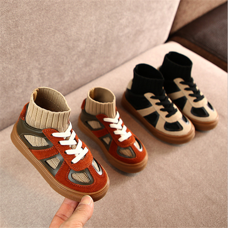 2020 New Spring Kids Shoes Suede Toddler Baby Shoes Soft Sole Casual Children Shoes Fashion Boys Girls Sneakers 21-25