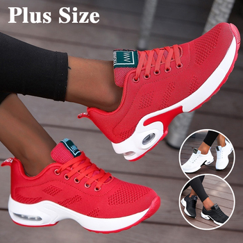 Women Air Cushion Sneakers Breathable Running Shoes Men Outdoor Fitness Sports Female Lace-up Casual