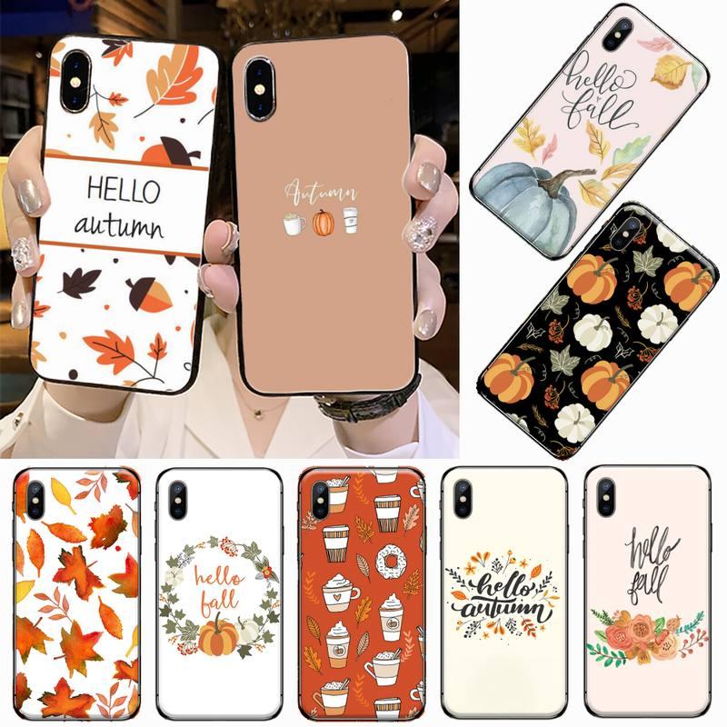 Pumpkin happy autumn fall Customer Phone Case For iphone 5 5s 5c se 6 6s 7 8 plus x xs xr 11 pro max coque shell funda hull
