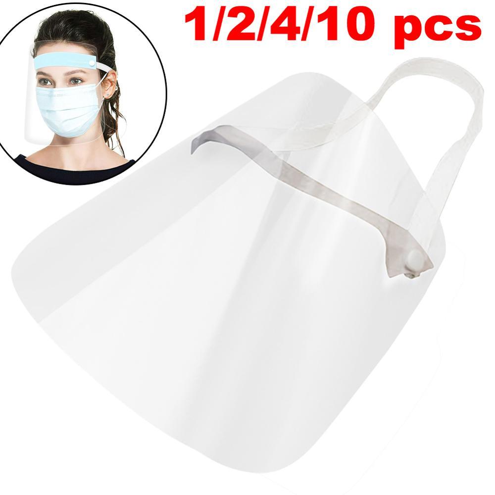 1/2/4/10pcs Disposable Face Mask Full-Face Protective Mask Anti-Fogging Anti-spitting Splash Stretchy Headband Party Mask