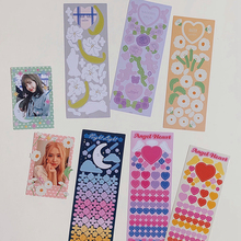 Ribbon-Sticker Flower Hand-Account Material Diary Moon Love INS Chasing Star Hot-Art