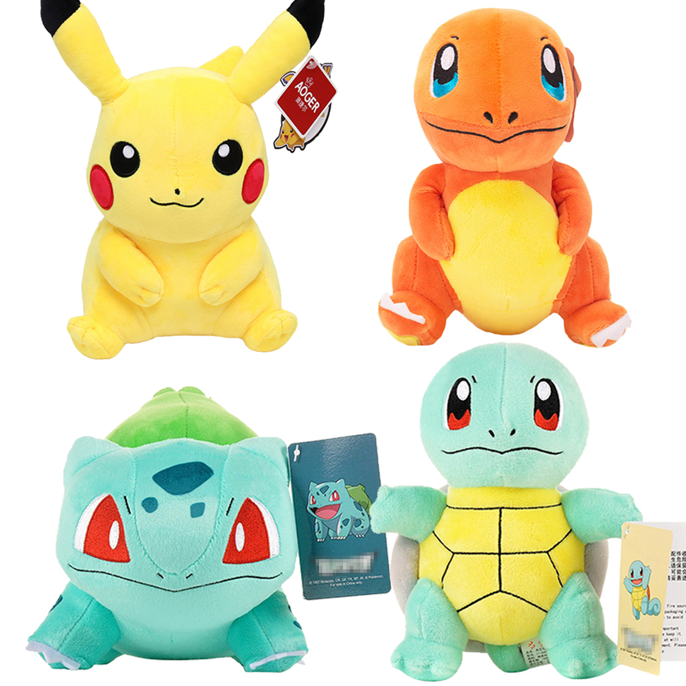 Charmander Squirtle Pikachued Bulbasaur Jigglypuff Lapras Eevee Anime Pokemoned Stuffed Toy Peluche Plush Doll Gift for Kid