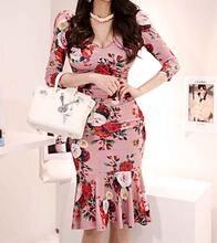 Цельнокроеное корейское платье Новинка лета 2020 женское элегантное