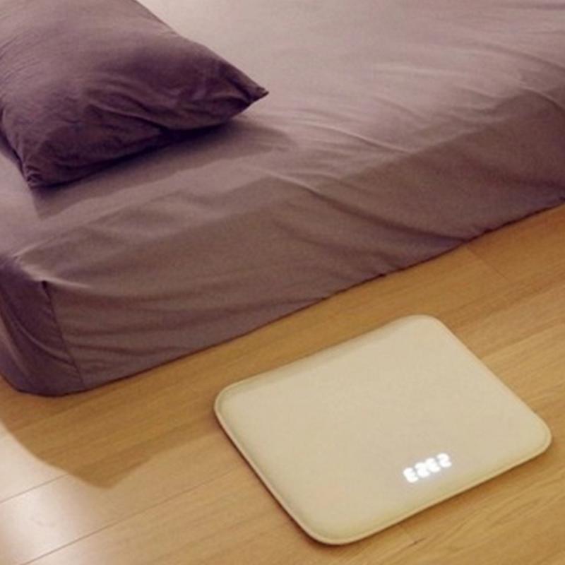 Réveil sensible à la pression tapis électronique horloge numérique chambre anti-dérapant résistant à l'usure tapis souple étudiant paresseux alarme cloche