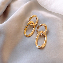 2020 nuevos exagerados retro metal Pendientes colgantes de cadena joyería femenina surcoreana pendientes personalizados europeos y americanos