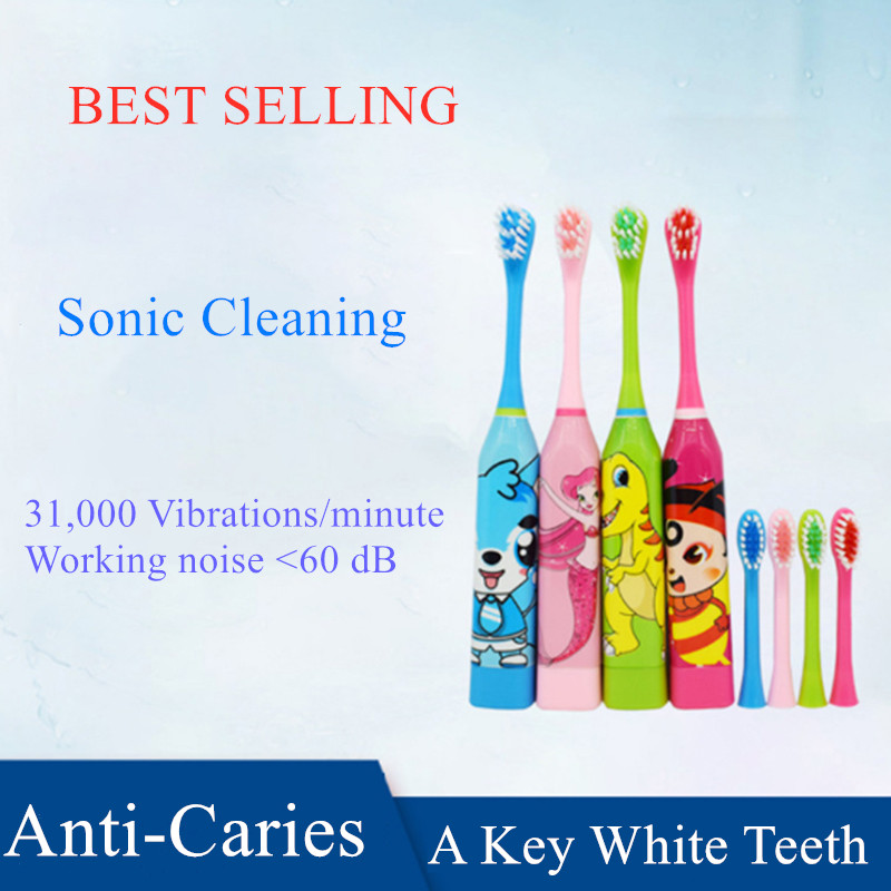 1pcs Vbatty Kids Electric Toothbrush Brush Head Children Cartoon Pattern Tooth Brush Electric Teeth Brush For Kids very cheap image