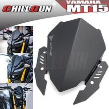 Deflector de parabrisas deportivo para motocicleta YAMAHA, accesorios de aleación para parabrisas de moto YAMAHA MT15 MT 15 2019 2020 2021 MT125 2020 2021