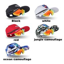 Men Women Polarized Sunglasses Cycling Eyewear + Snapback Caps Camouflage Hat 2