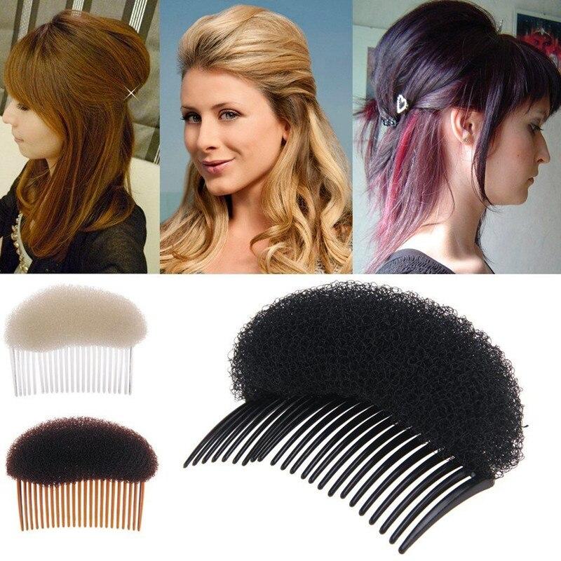1pcs tamanho grande testa volume de cabelo macio esponja clipe pente de cabelo profissional feminino maquiagem pente ferramenta estilo de cabelo venda quente