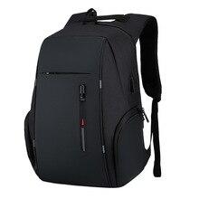 Men's anti theft Backpack USB Notebook School Travel Bags wa