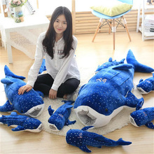 Lovely Whale Doll Blue Whale Large Sleeping Pillow Children Plush Toys For Girls Birthday Christmas Present killer whale doll pillow whale orcinus orca black and white whale plush toy doll shark kids boys girls soft toys