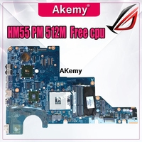 For HP Pavilion CQ42 CQ62 G42 G62 motherboard Laptop Motherboard 595184 001 Fully Tested DDR3 HM55 PM GPU/512M Free CPU