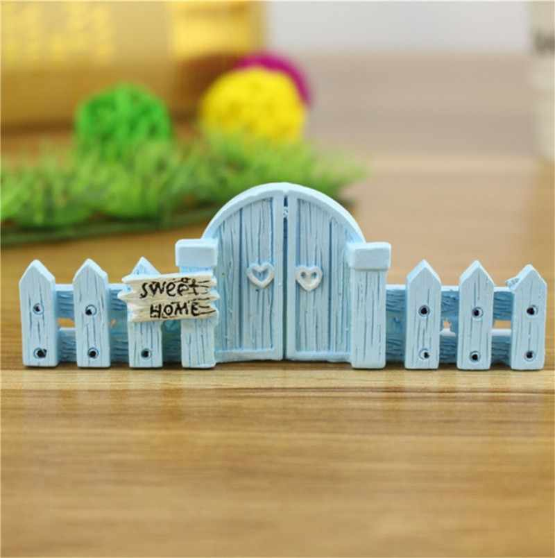 Micro Landscape Fence Railings Decorative Wooden Fence Ornament Diy Resin Design Craft Mini Fairy Garden Cottage Landscape