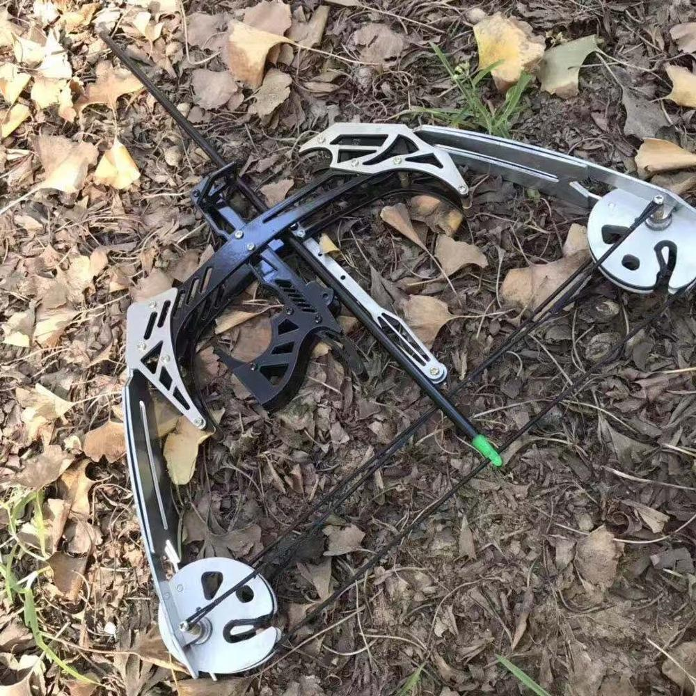 New Mini Bow And Arrow Slingshot 35 Lb Compound Bow Outdoor Sports Bow Fish Shooting Package