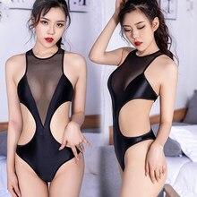 Hirax bodysuit um pedaço terno bandagem beachwear feminino sexo quente roupa de banho 2021new sexy menina maiô sólido de alta corte