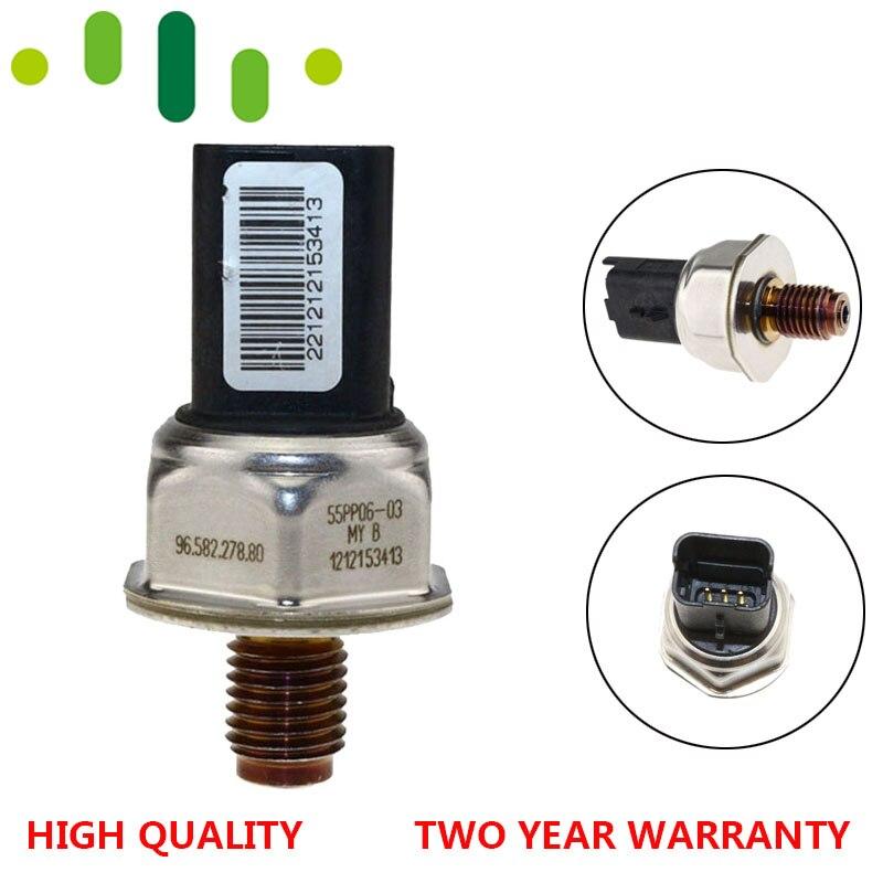 Fuel Rail Pressure Sensor 55PP06-03 9658227880 1920GW For Peugeot 307 206 Citroen C1 C2 C3 C4 Xsara Berlingo Picasso 1.4 1.6 HDI