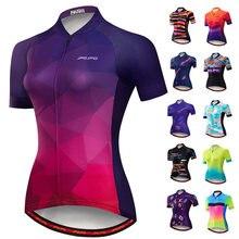2021 Женская велосипедная Джерси летняя одежда с коротким рукавом