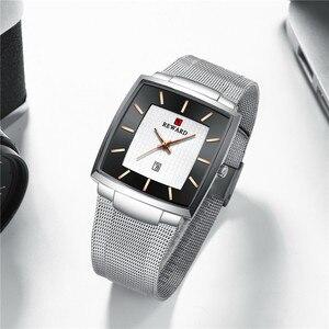 Image 5 - REWARD Ultra thin Square Quartz Watch Men Watches relogio masculino Top Luxury Wrist Watches Steel Waterproof Male Clock