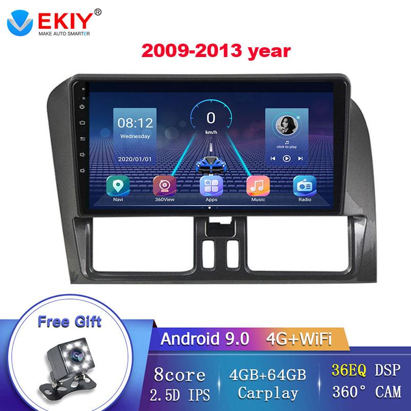EKIY 36EQ DSP For Volvo XC60 2009-2017 Android 9.0 Car Radio Multimedia Screen Navigation GPS Stereo Carplay no 2 Din DVD Player
