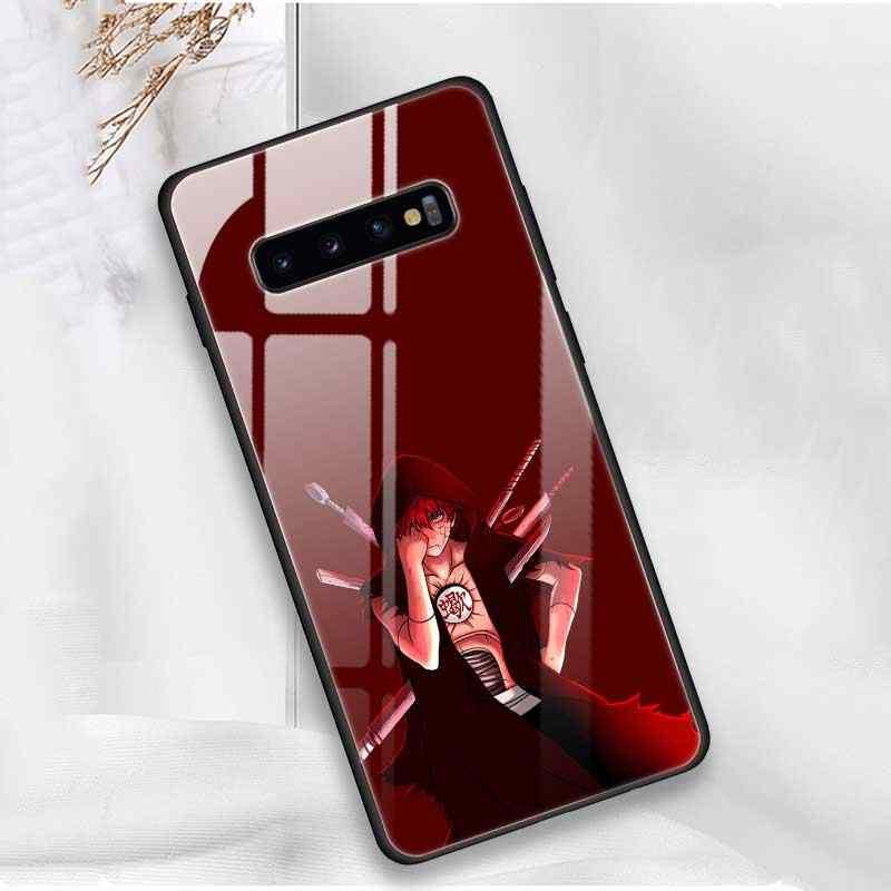 Akatsuki Pein Konan NARUTO Temperado Vidro Da Tampa Do Caso Para Samsung Galaxy S10 5G Nota 9 A70 Borda de Silicone Telefone shell