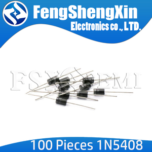 100pcs/lot New 1N5408 IN5408 3A1000V Rectifier diode DO-27