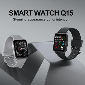 LYKRY Q15 Smart Watch Smartwatch Women 1.69 inch Screen 22MM DIY Watch Face Long Battery Blood Presure Men's Watches PK P8 PLUS 2