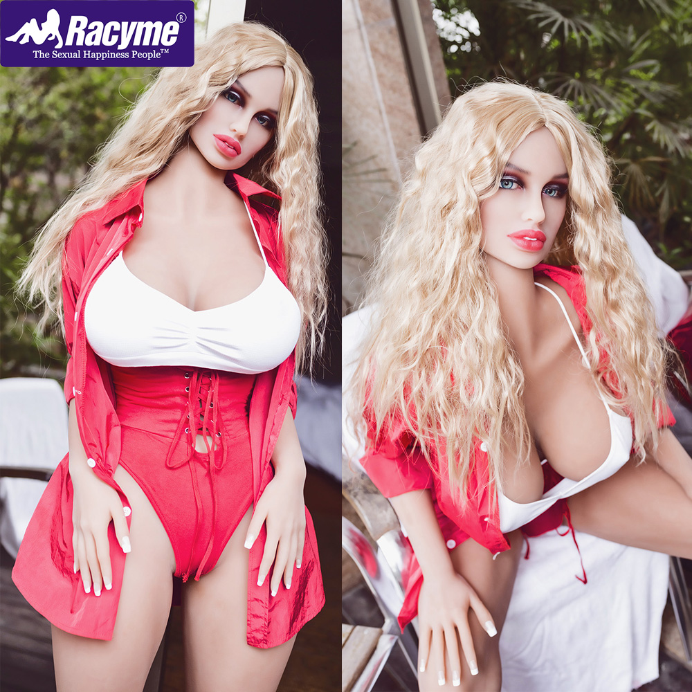Racyme <font><b>163cm</b></font> Silicone <font><b>Sex</b></font> <font><b>Doll</b></font> Standing Feet Lifelike Huge Breast Pussy Ass Soft Love Robot <font><b>Doll</b></font> Sexy Toys for Male Adult Toys image