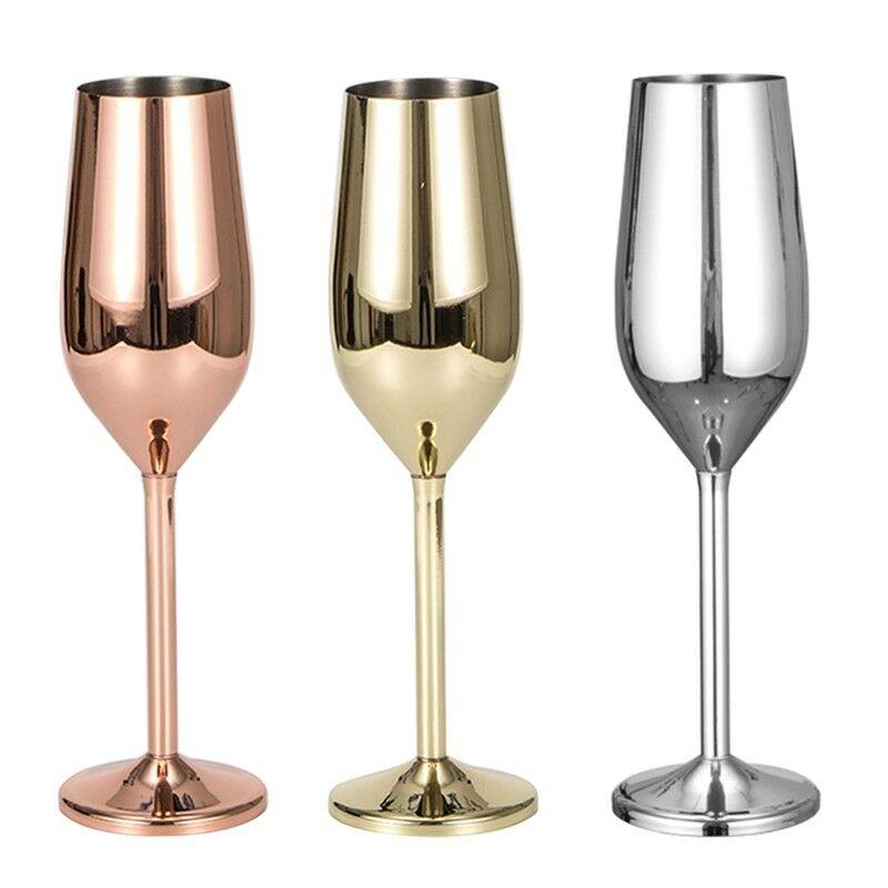 Champagne verres or brossé mariage grillage Champagne flûtes incassable inoxydable boisson tasse fête mariage vin