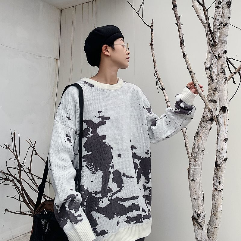 Privathinker New Fashion Tie Dye Men Sweaters 2020 Autumn Loose Pullovers Men's Korean Hip Hop Streetwear Oversized Casual Tops
